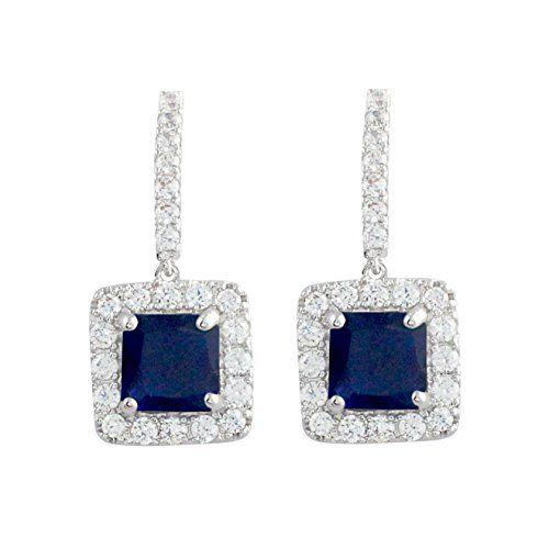 Starfish Clear Austrian Crystal Platinum Plated Women Drop Earrings Jewelry