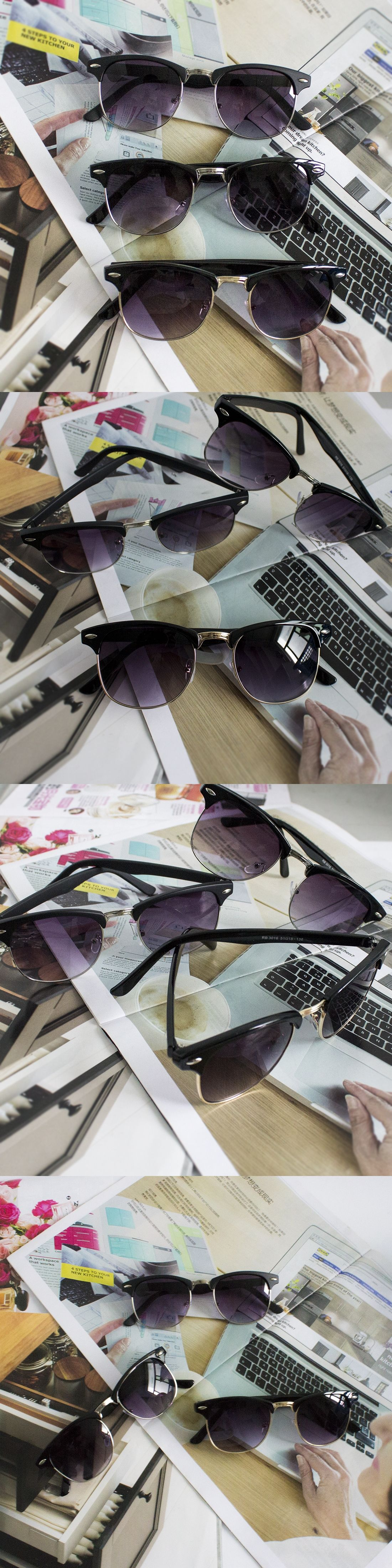8c0d658346c8d Hot Sale High Quality Half Metal Sunglasses Men Women Brand Designer Glasses  Mirror Sun Glasses Fashion