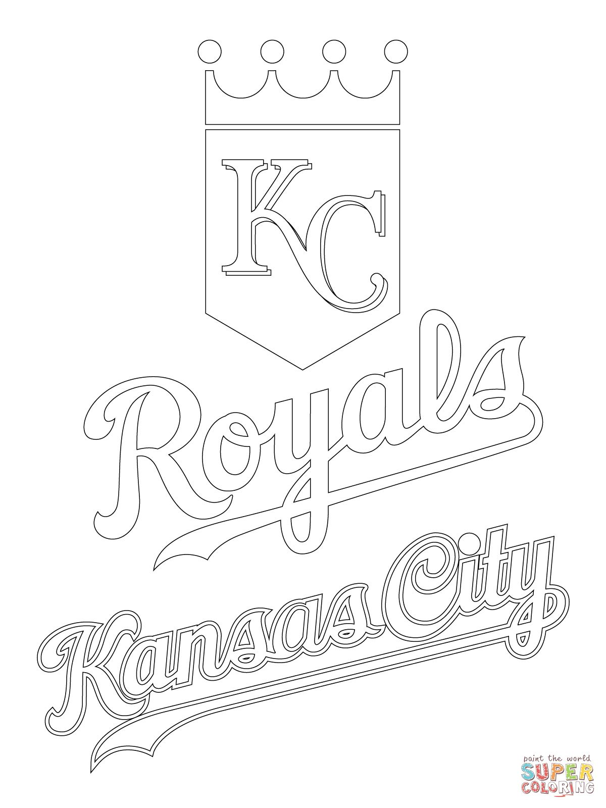 Kansas City Royals Logo Super Coloring Coloring Pages Kansas