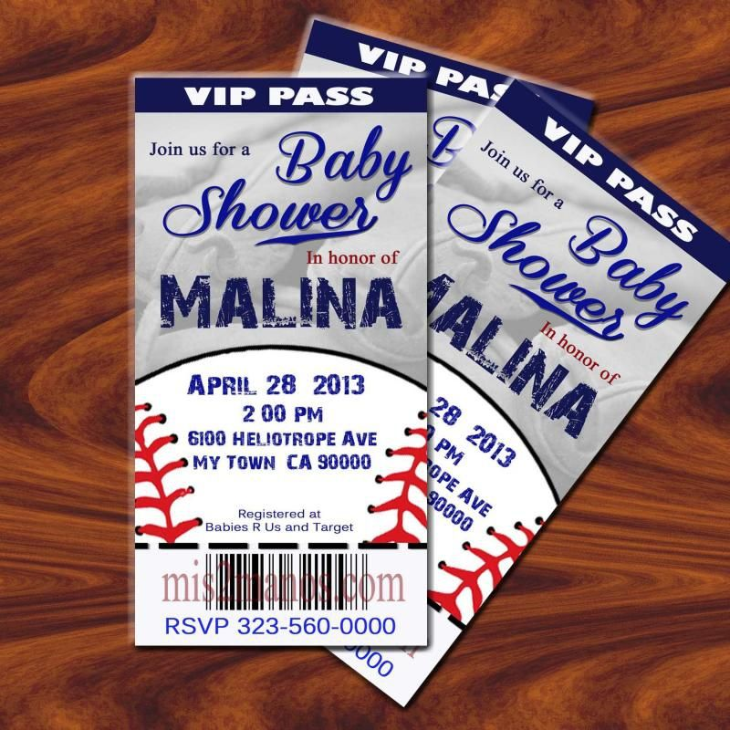 baseball baby shower invitations templates  baby shower, Baby shower