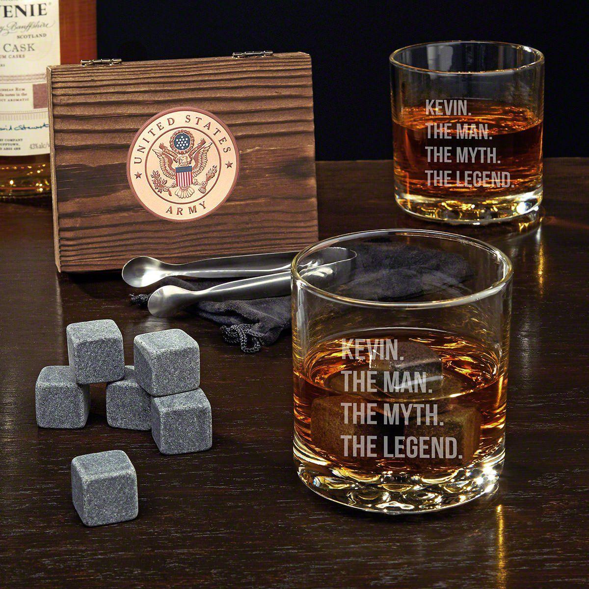 Fancy Man Myth Legend Custom Whiskey Stone Set And Buckman Glasses Whiskey Stones Whiskey Lover Gifts Whiskey Gifts