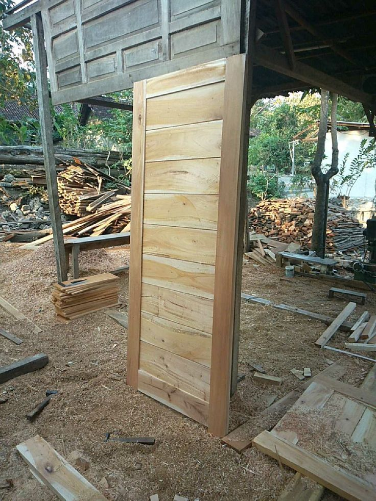 Cheap mahogany wood door with a price of IDR 300,000- Pintu …