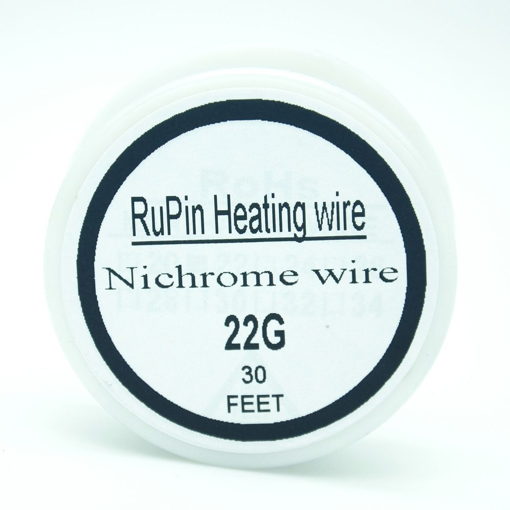 RuPin Nichrome wire 22 Gauge 30 FT 0.6mm Resistance Resistor AWG ...