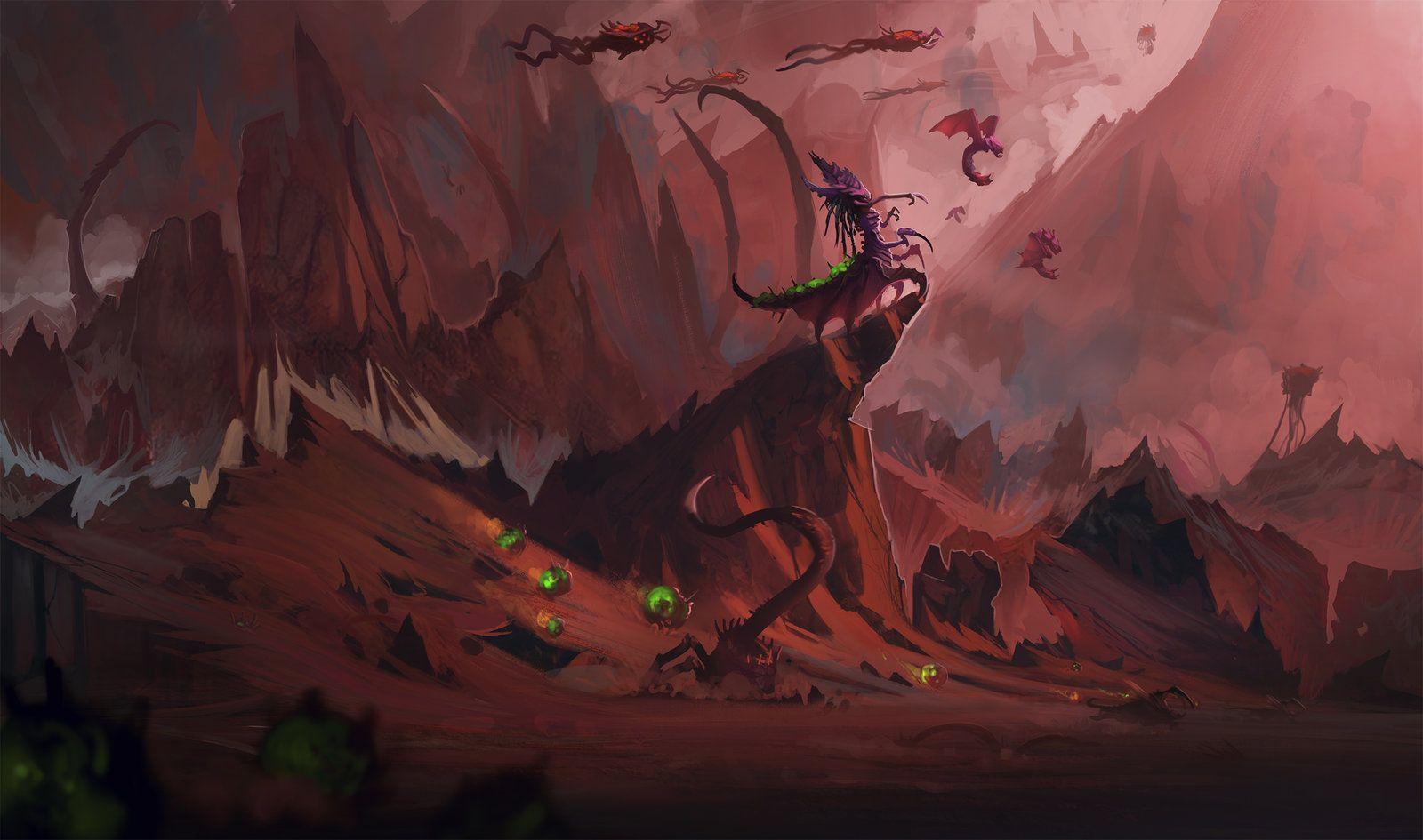 Zagara S Happy Banelings By Exphrasis On Deviantart Starcraft Zerg Fantasy Landscape Starcraft I had always wanted to draw zagara and her endless swarm. starcraft zerg