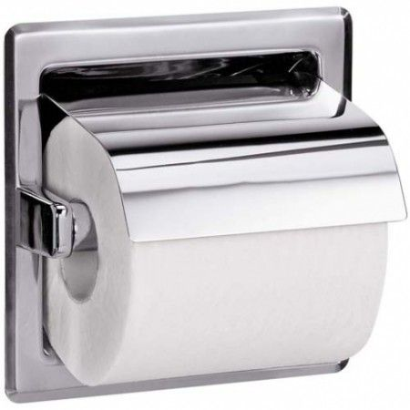 Bradley 5103 Hooded Toilet Tissue Dispenser Washroom Accessories Toilet Roll Holder Toilet Paper Dispenser Toilet Roll