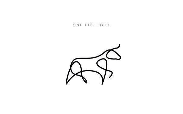 One Line Drawing Cow Tattoo Ideas Cow Tattoo Taurus Tattoos Ox