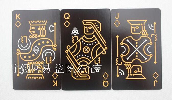 novelty pure black glow in the dark noctilucent poker cards night luminous playing card as collection special poker set