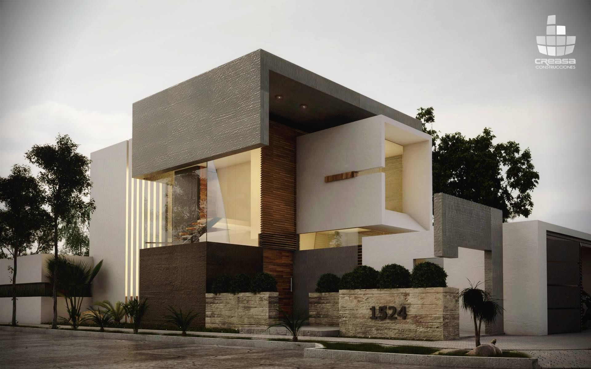 Creasa z creasa mx arquitectura fachadas casa estilo - Casas arquitectura moderna ...