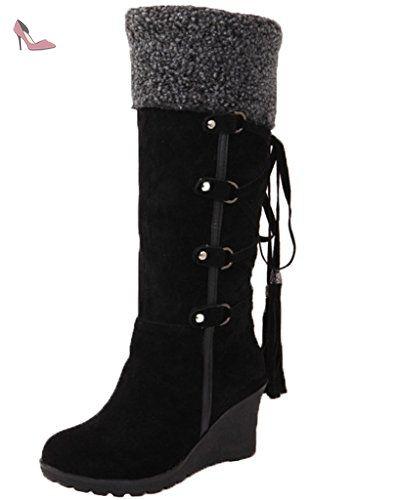 Bottine chaussure de neige en coton femme boots... kVTxOL