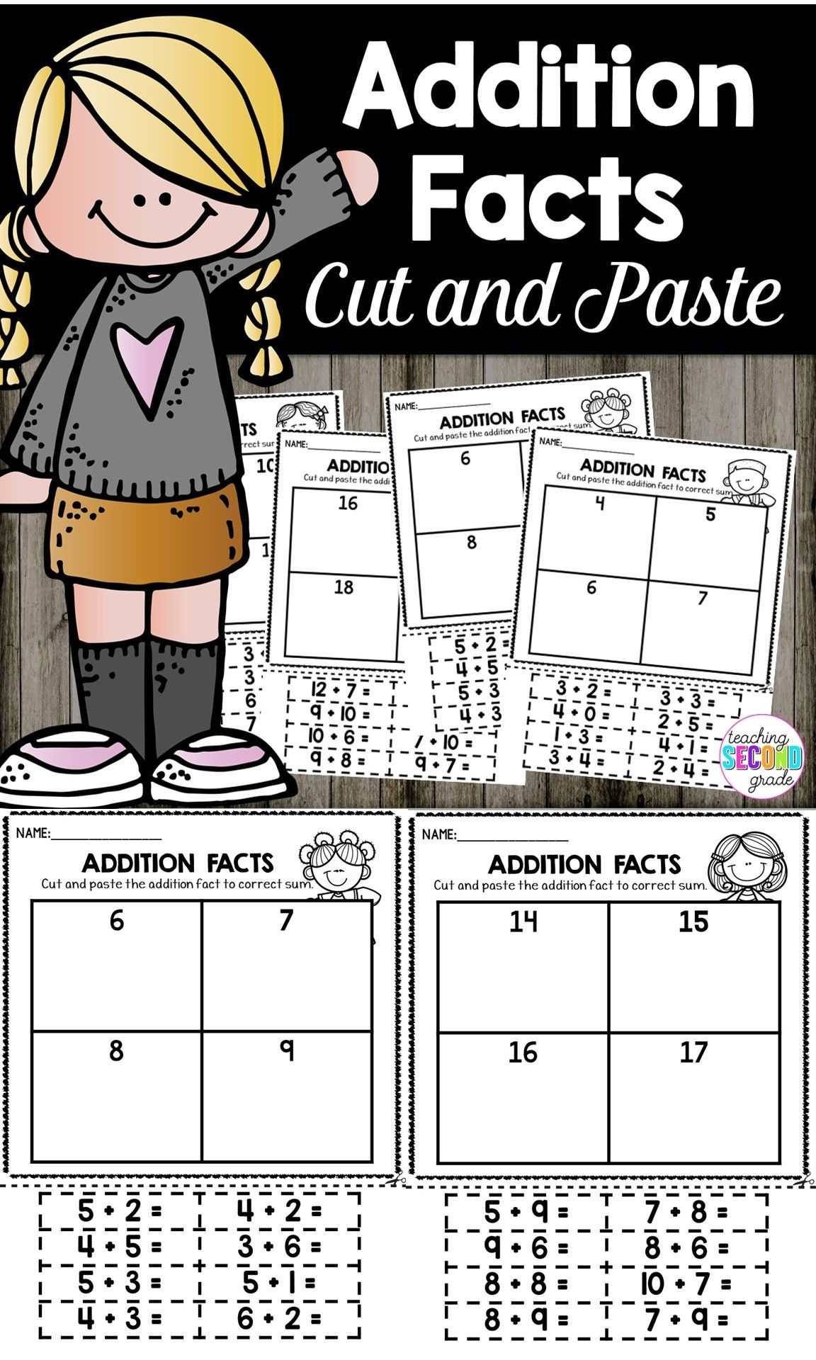 Addition Practice | Addition Facts Practice | Early Finishers ...