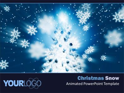 Animated Christmas PowerPoint Slides Christmas Snow PowerPoint