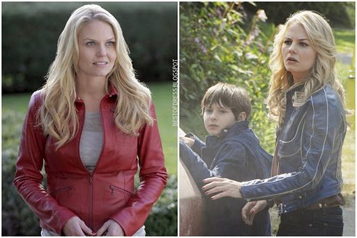 I'm a big fan of ABC's Once Upon a Time and love the red leather jacket the star wears. We're all out of luck though: it was custom made by a Canadian designer. But! I found another that I thought was really cute...