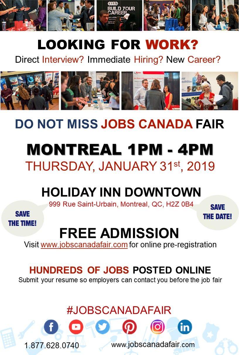 Pin By Jobs Canada On Jobs Canada Job Fair Looking For A Job