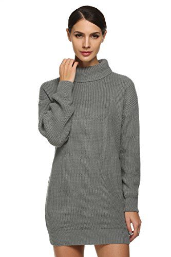 ANGVNS Womens Chunky Knit Baggy Full Sleeve Oversize Roll Cowl ...