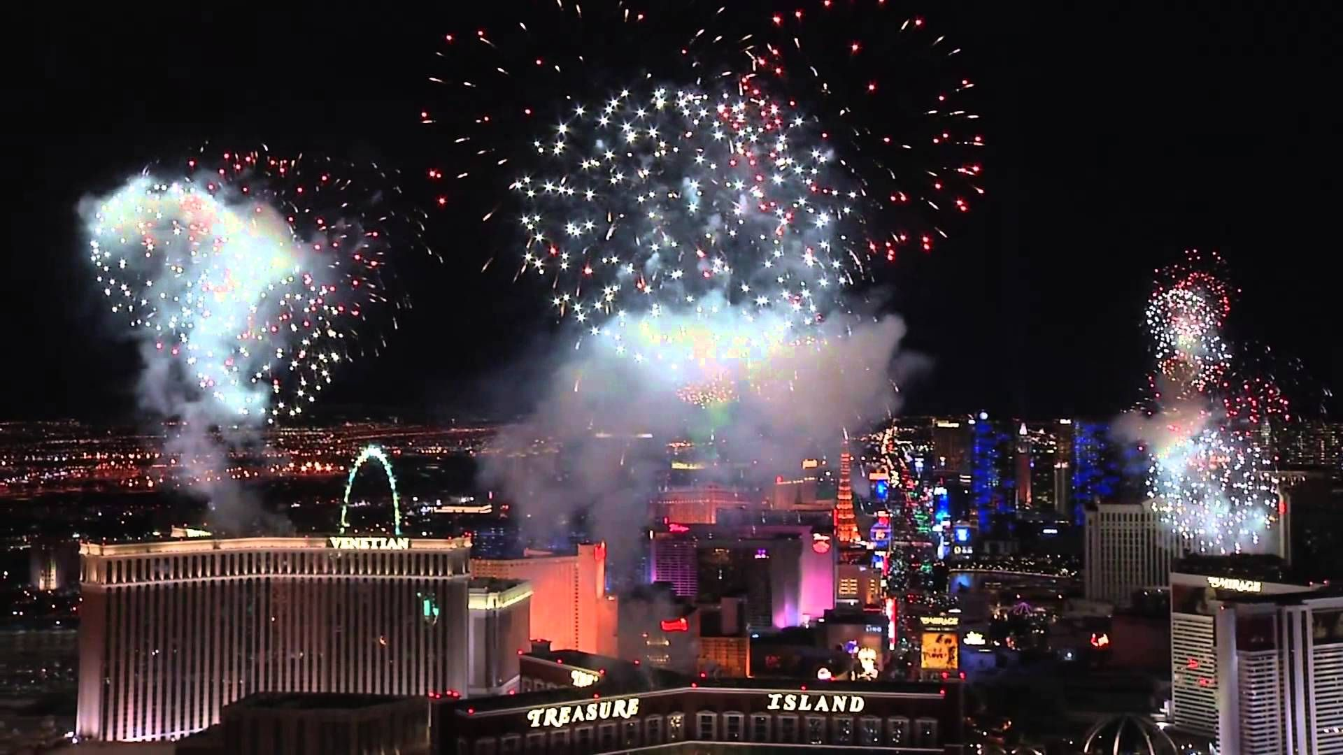 2015 New Year's Eve Fireworks at Las Vegas (With images