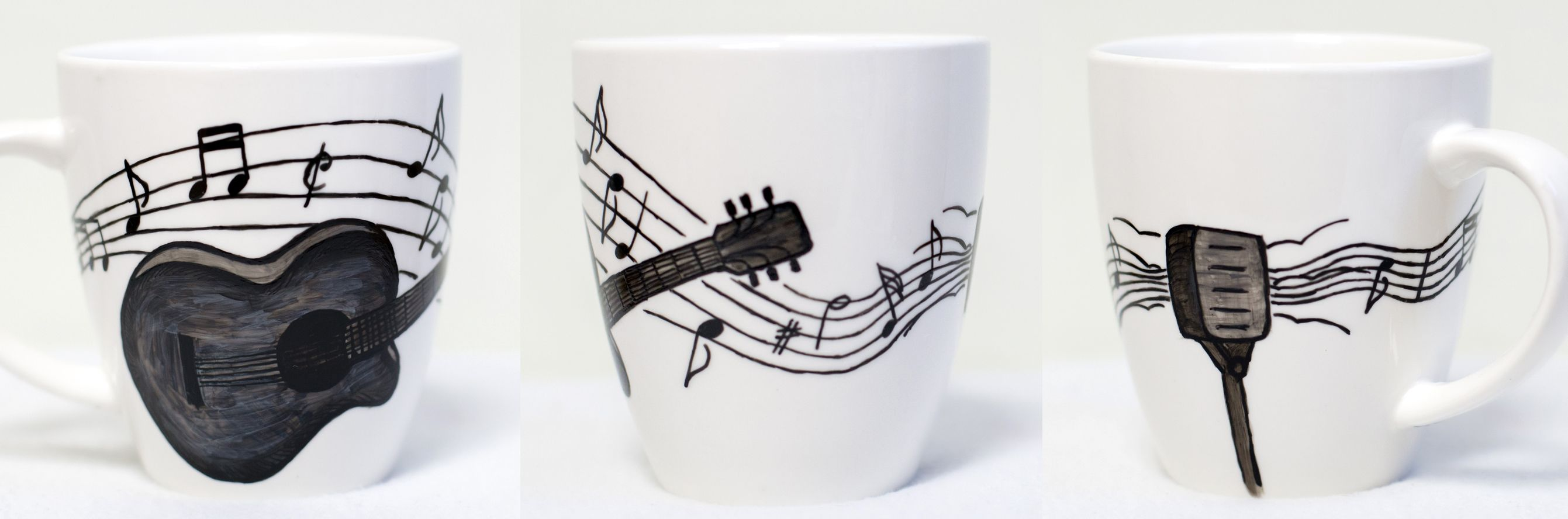 Music; hand-painted mug; 370ml / Kristi Palm Art