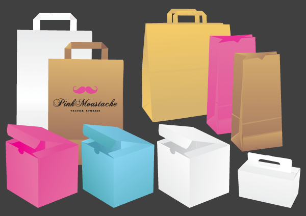 Paper Shopping Bag Vector Comes With 1 Files In Svg Format Clip Art Vintage Shopping Bags Paper Bag
