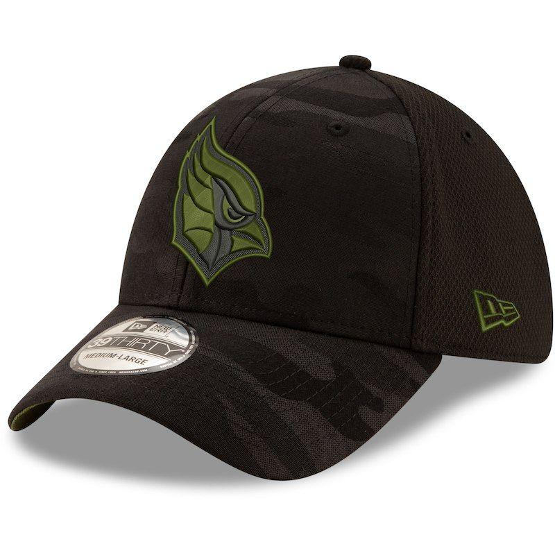 6e096740d2d843 Arizona Cardinals New Era Camo Royale 39THIRTY Flex Hat - Black ...