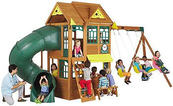 Big Backyard Premium Collection Summerlin Wood Swing Set