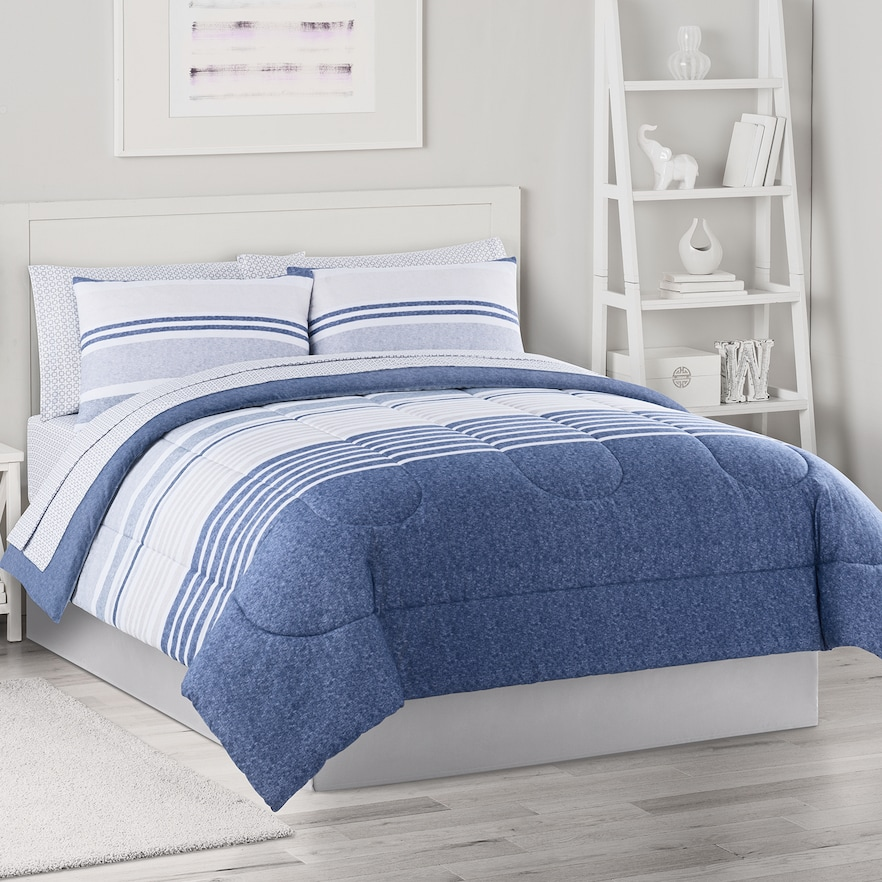 The Big One Twin Xl Complete Bedding Set With Sheets Striped