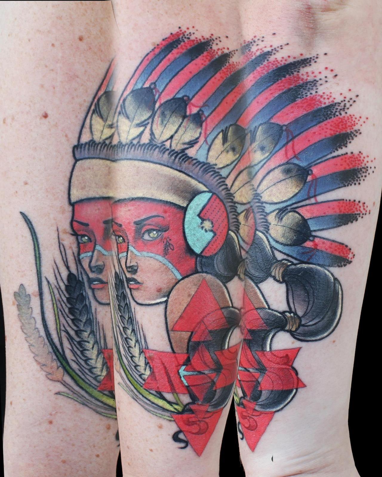 Amazing face tattoos by cody eich fonda lashay design