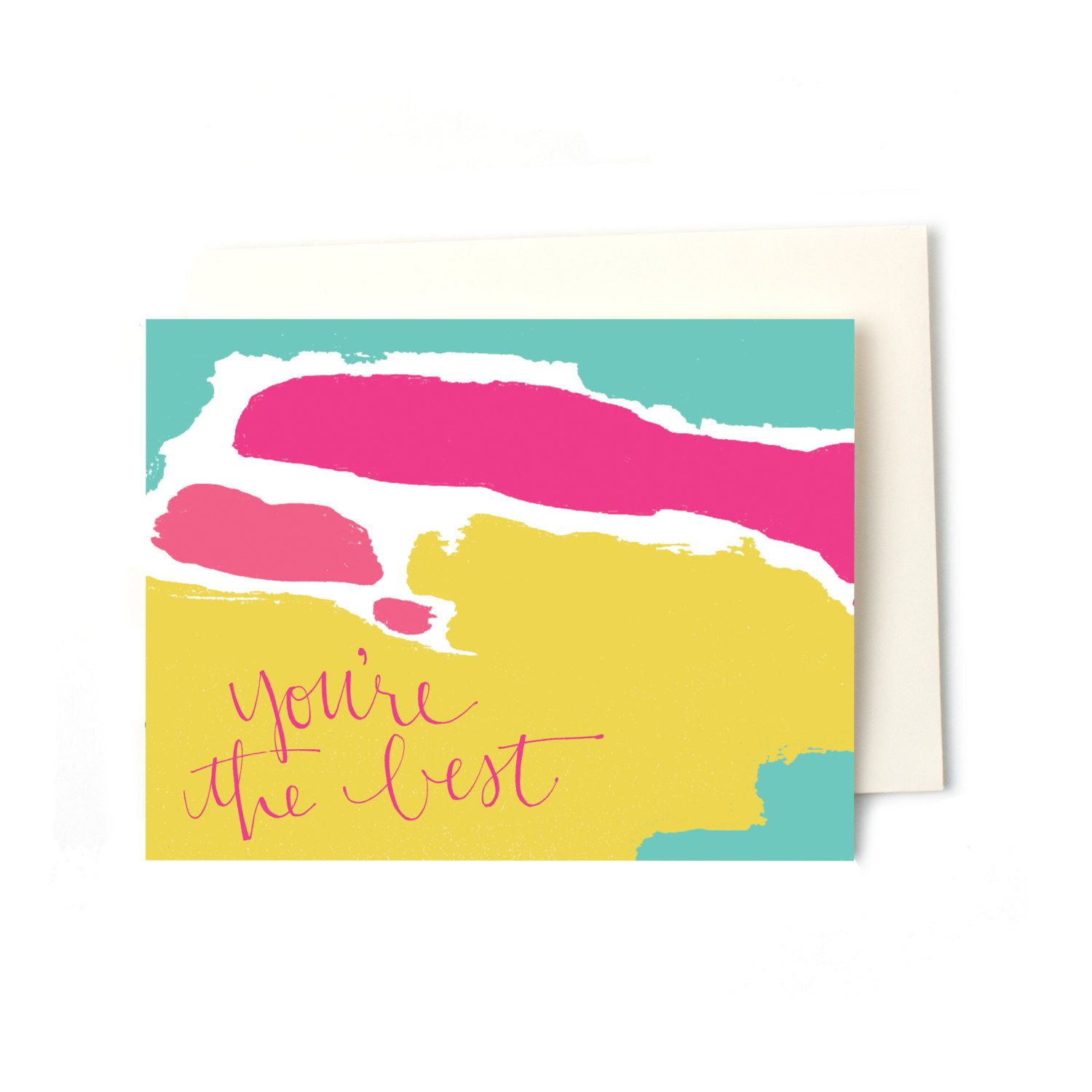 Thank You Note Greeting Card, You're the Best Colorful | Hand ...