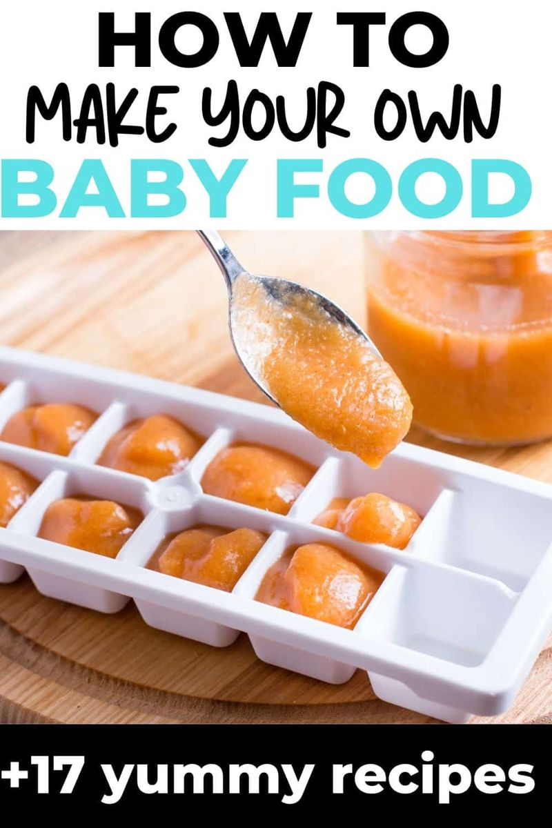 How to make your own baby food #homemadebabyfood