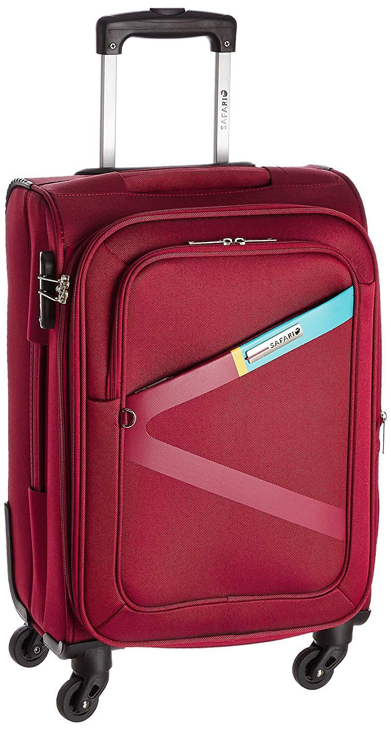 Safari Greater Polyester Red Cabin 4 Wheels Hard Suitcase Trolley Bags Hard Suitcase Best Travel Bags