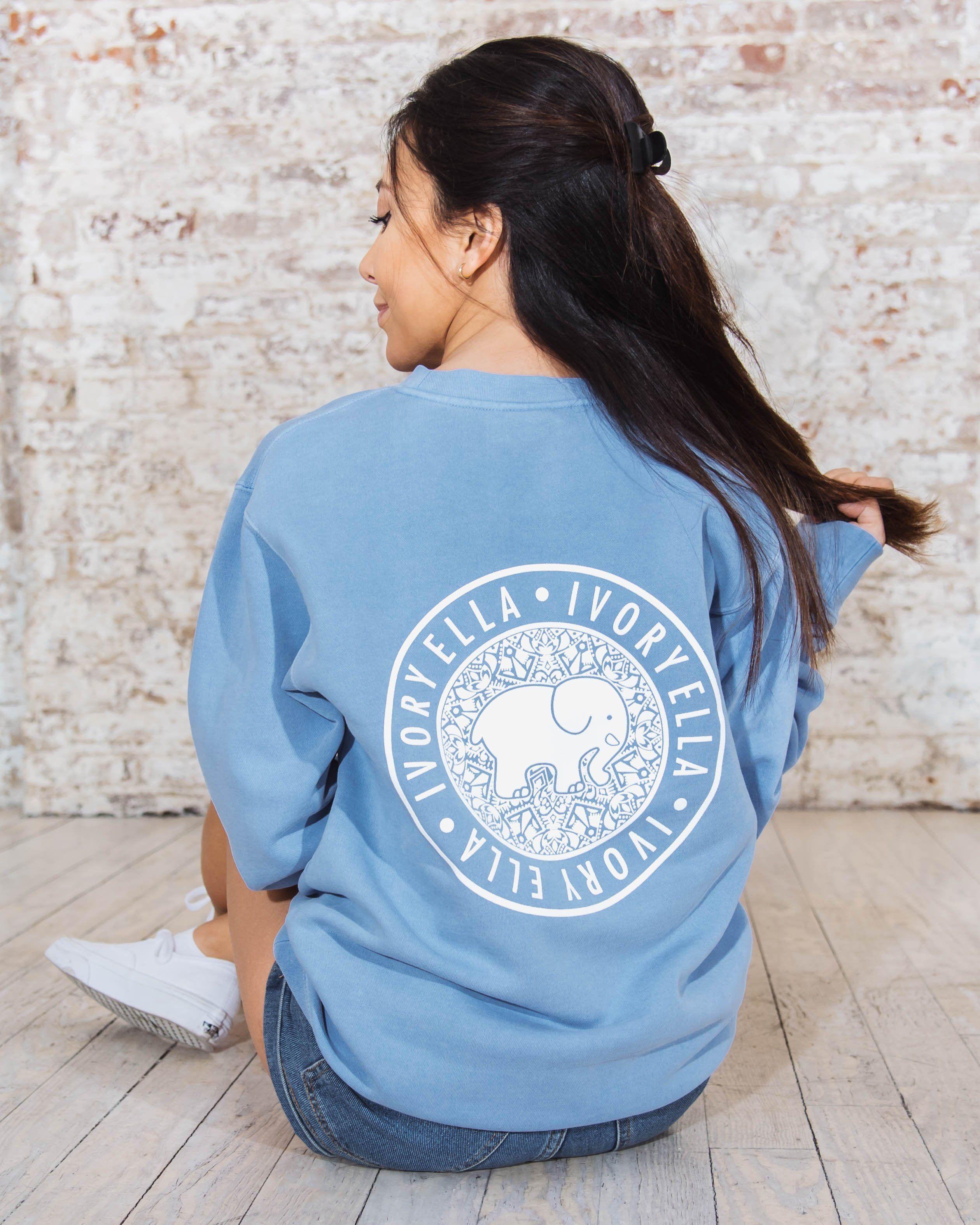 Light Blue Crew Neck Sweatshirt Light Blue Sweatshirt Sweatshirts Blue Crew