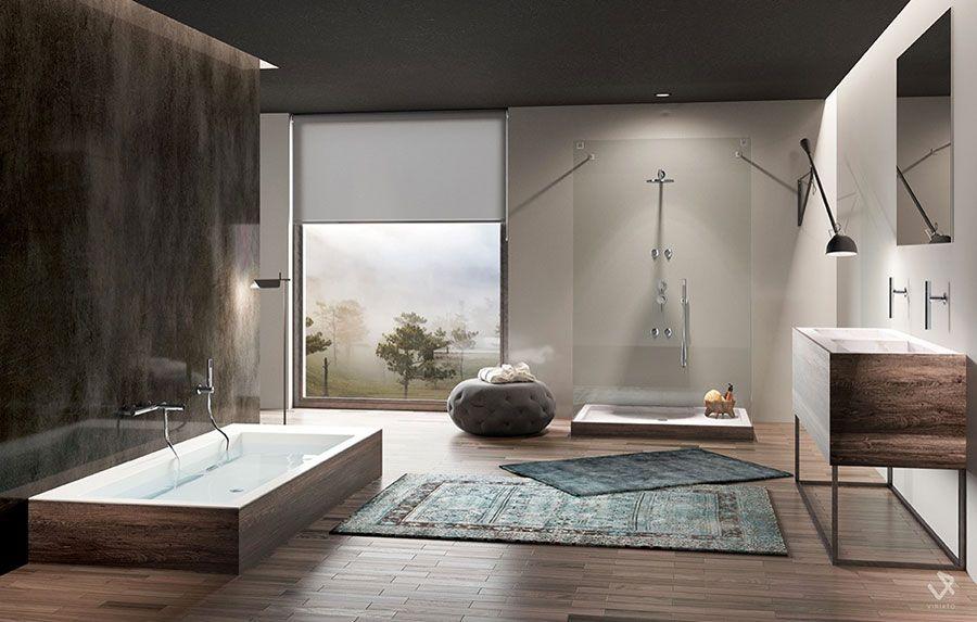 Design Bagno Moderno : Idee per arredare un bagno moderno con elementi di design