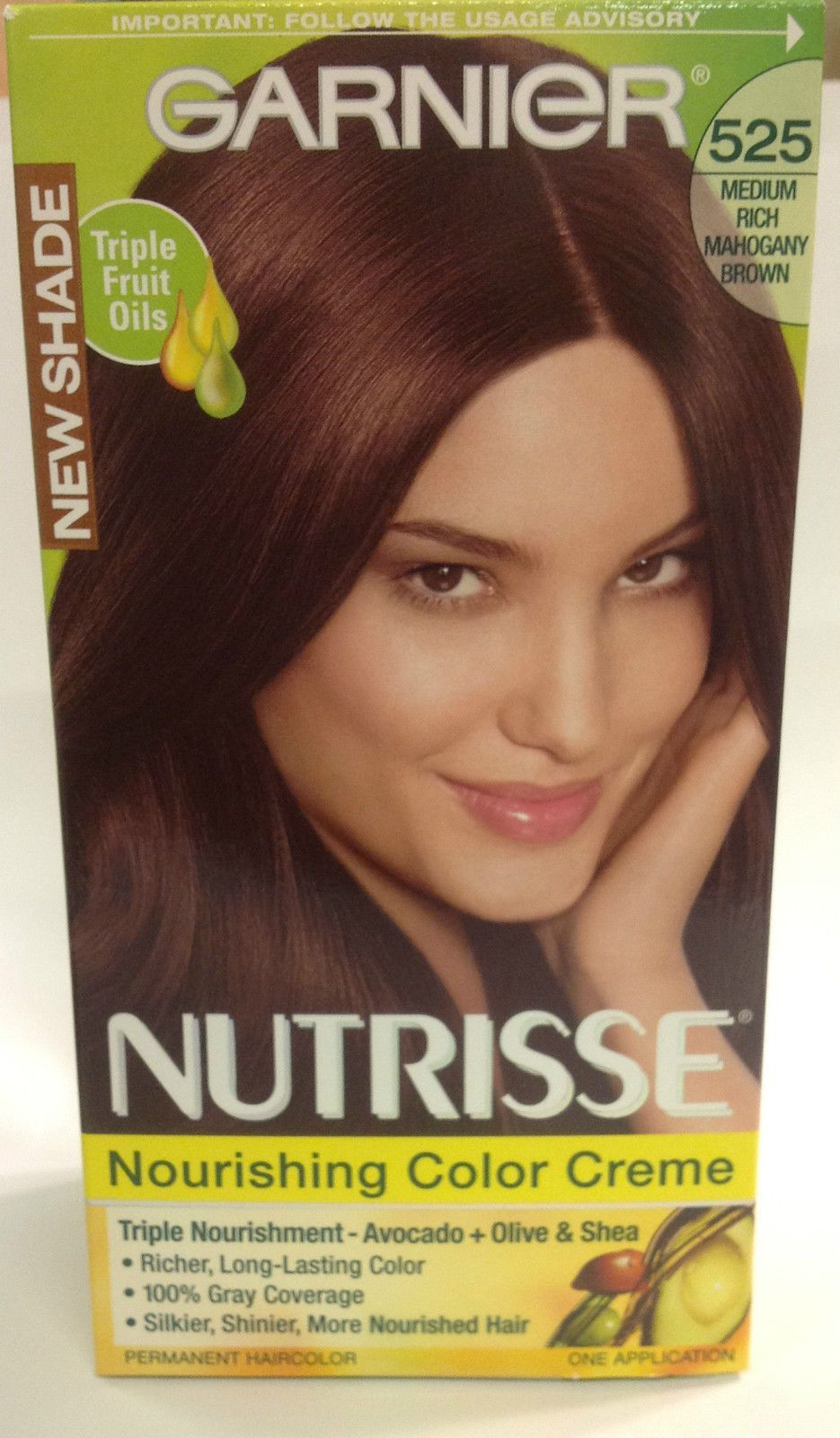 Garnier nutrisse permanent haircolor medium rich mahogany