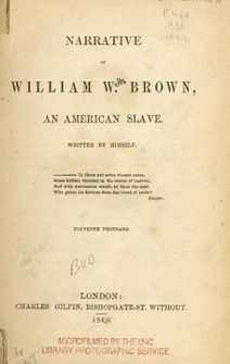 How to Read a Slave Narrative, and essay by William Andrews of UNC.