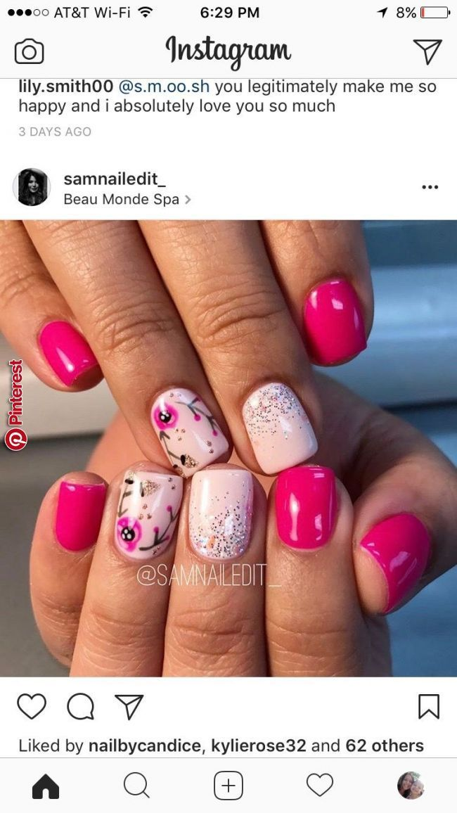Adorable Nails In 2019 Pinterest Nails Spring Nails And