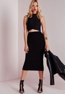 Tall Longline Jersey Midi Skirt Black | Tall Women Fashion & Style ...