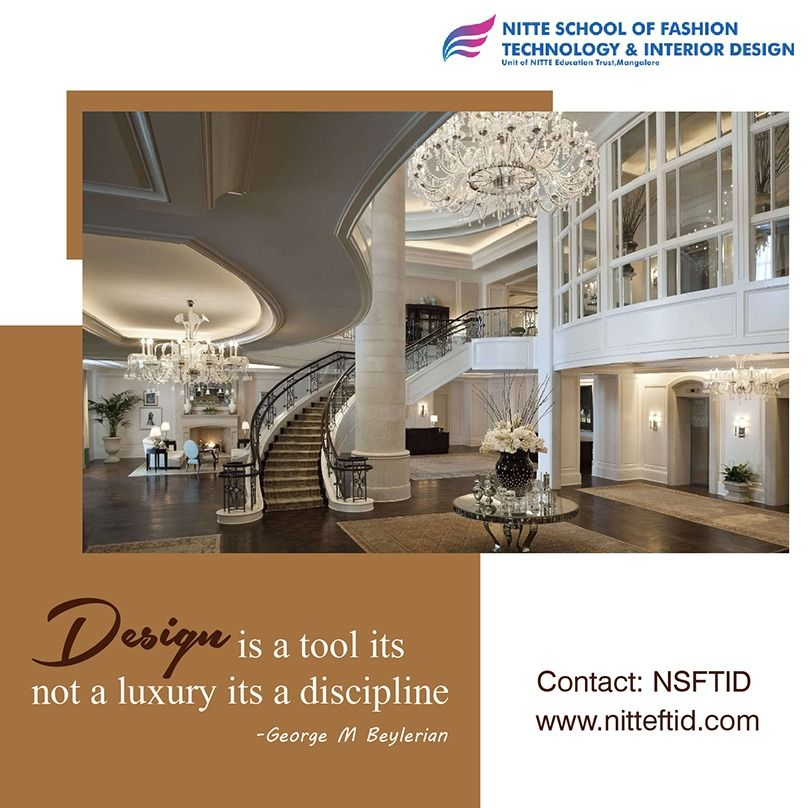 Design Is A Tool Its Not A Luxury Its A Discipline George M Beylerian Enroll Today At Http Www Nitte College Design Decor Interior Design Interior Design