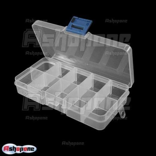 Portable Storage Box 10 Compartment Plastic Tool Case Portable Storage Tool Case Belt Storage