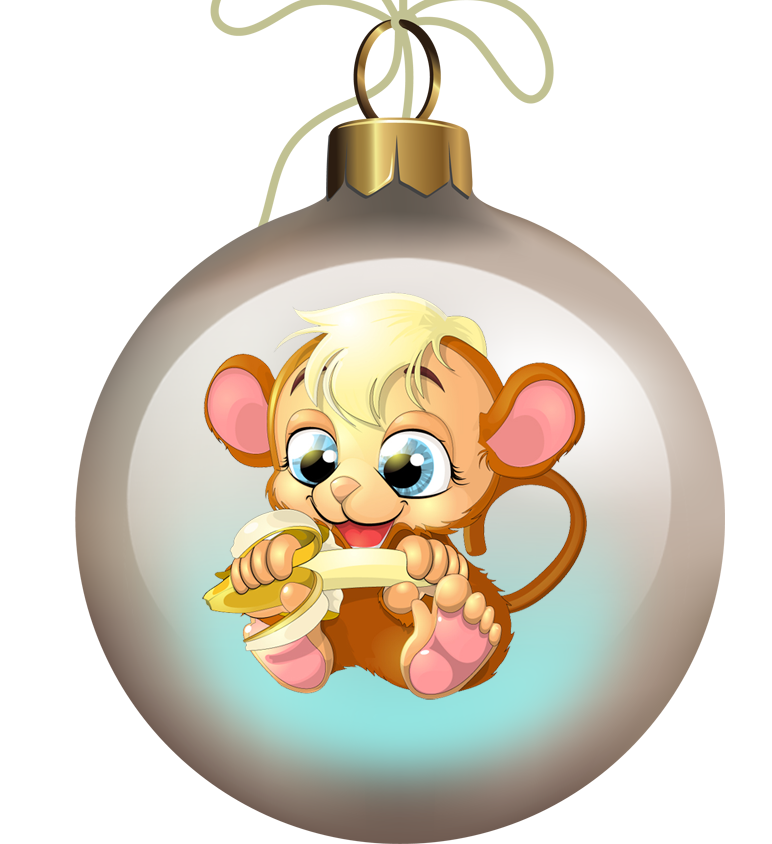 Символ года картинка обезьяна