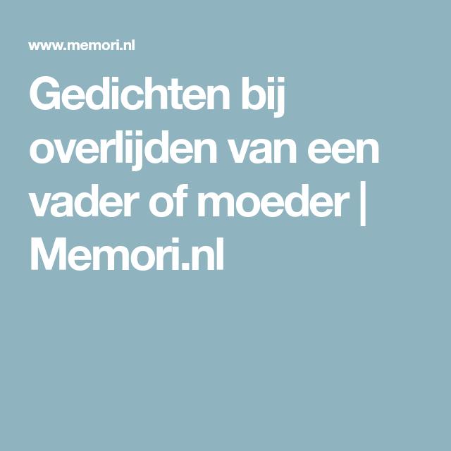 Ongekend Gedichten bij overlijden van een vader of moeder | Memori.nl TI-18