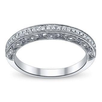 Scott Kay Ladies 14K White Gold Diamond Wedding Ring