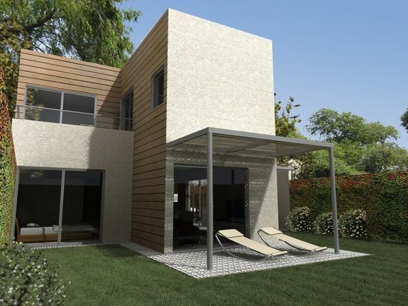 Urbana frente en dos plantas 3 dormitorios procrear for Casa procrear clasica techo inclinado 3 dormitorios