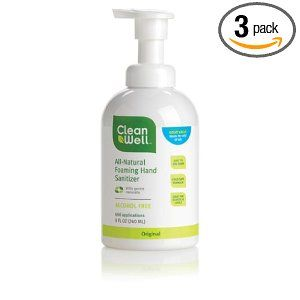 3 Pack Of Cleanwell All Natural Foaming Hand Sanitizer Original