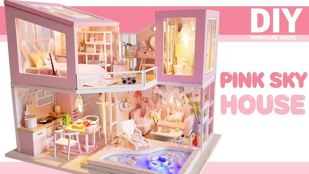 Diy Miniature Dollhouse Kitㅣpink Sky Houseㅣ핑크스카이하우스ㅣ미니어처하우스ㅣ박소소 Soso Miniature Dollhouse Kits Dollhouse Miniatures Doll House
