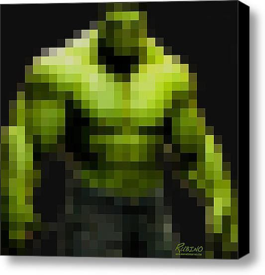 Incredible Hulk on Stretched Canvas by Rubino Fine Art, Etsy Superhero wall art/canvas for home decor