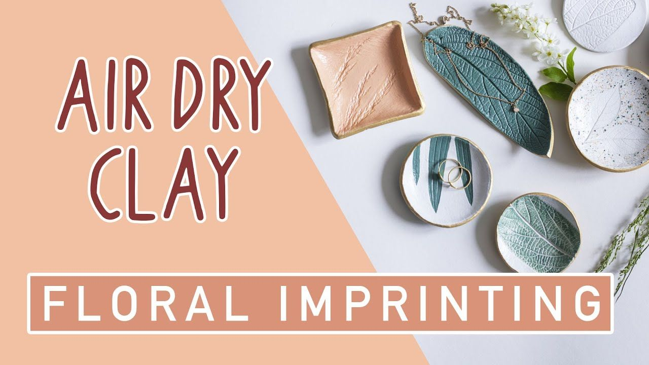 Youtube Air Dry Clay Air Dry Clay Projects Diy Jewelry Tray
