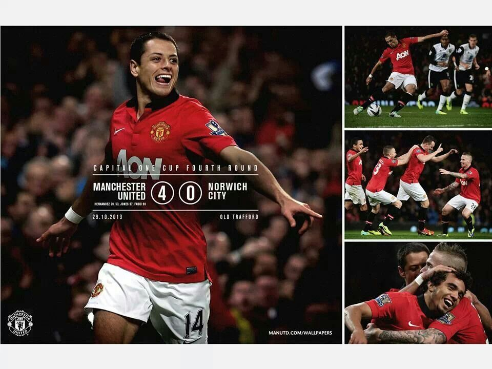 Manchester United S 4 0 Win Over Norwich City In The Capital One Cup With Images Manchester United The Unit Official Manchester United Website