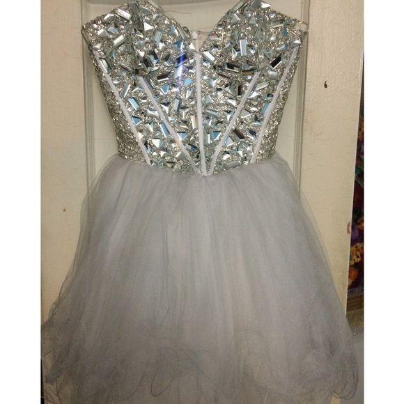 Sherri Hill Broken Glass Embellishment Prom Dress | Dress prom, Prom ...