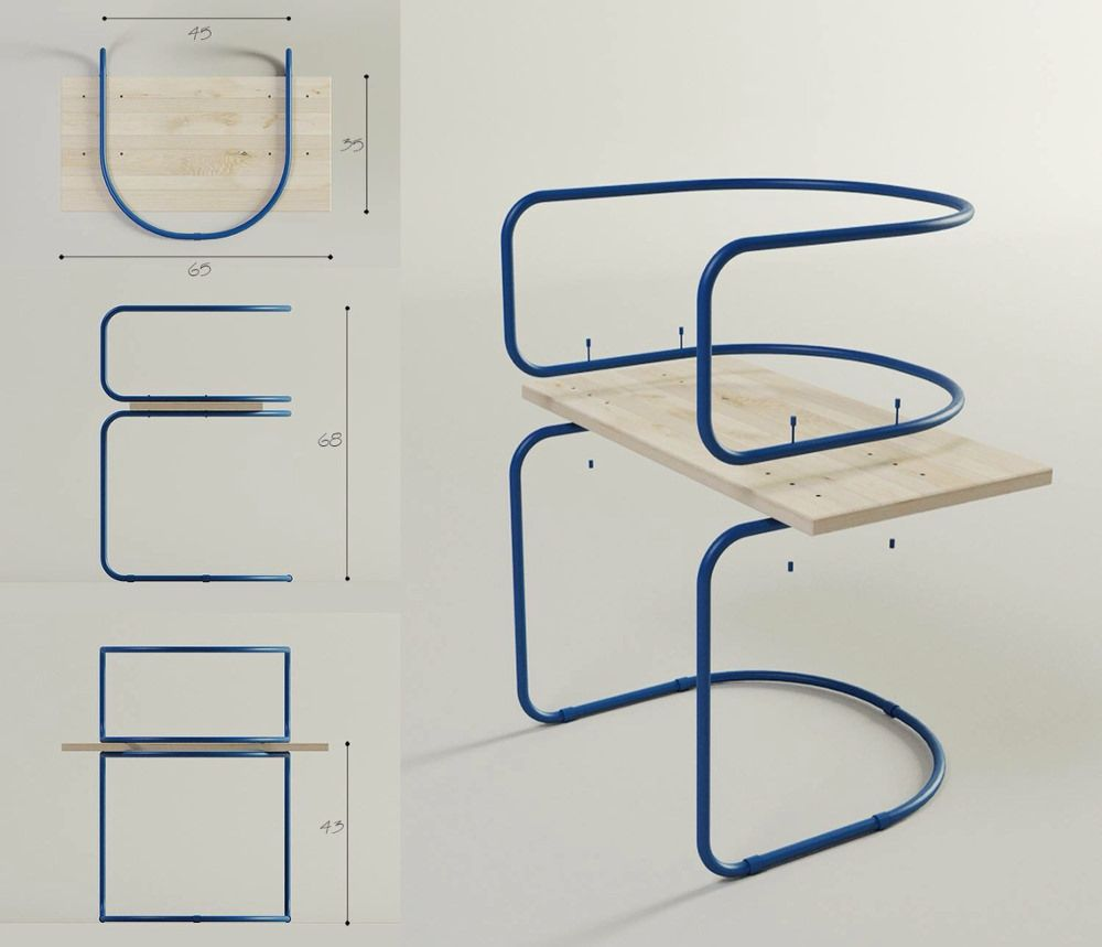 Air Chair La Chaise Pour Pause Caf Par Sergei Kotsepup Air  # Muebles Boxetti