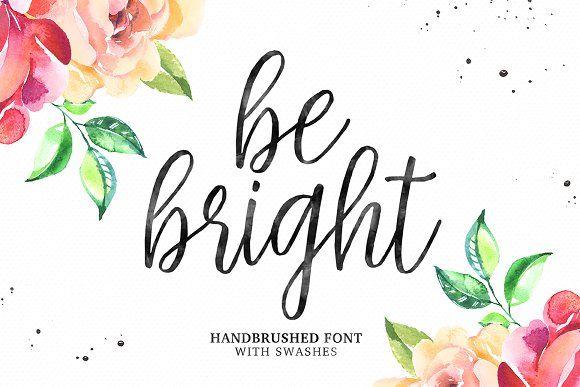 Be Bright Swashes Cursive CalligraphyCursive FontsBusiness