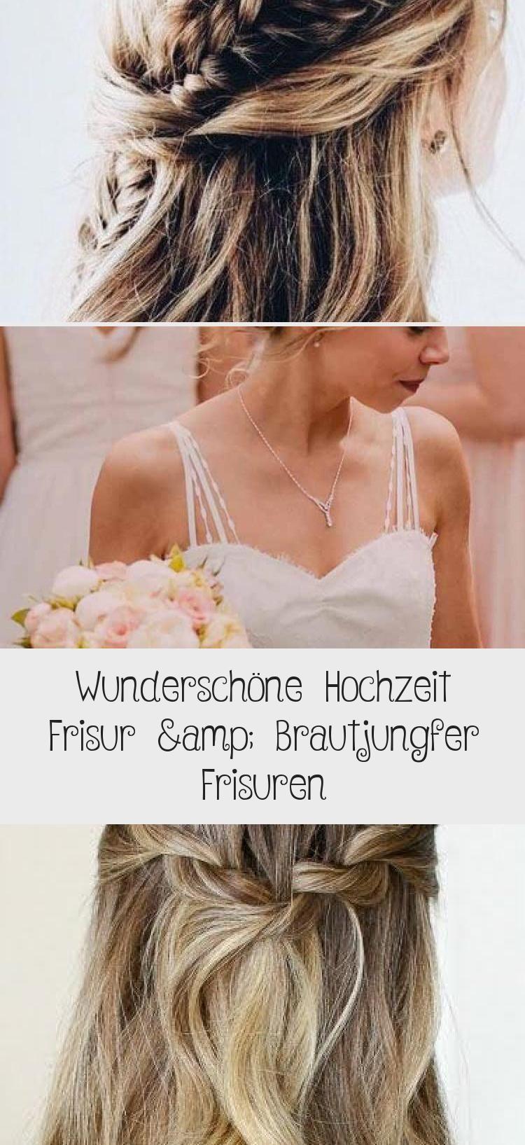 Wunderschone Hochzeit Frisur Brautjungfer Frisuren With Images Hair Styles Beauty Style