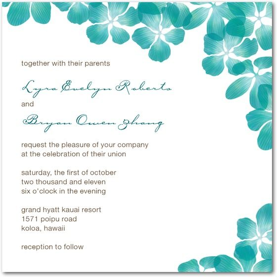 Attractive Wedding Stationery Wednesday: Turquoise Wedding Invitations